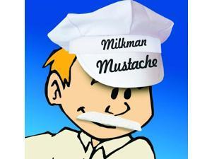 Self Adhesive Milkman Costume Mustache White One Size