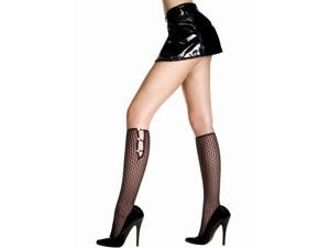 Diamond Design Opaque Knee Hi Nylon Costume Stocking Hosiery One Size