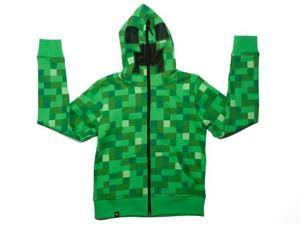 Minecraft Creeper Premium Zip-Up Youth Hoodie Large
