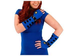 Doctor Who Knit Arm Warmers: Blue Dalek One Size Fits Most