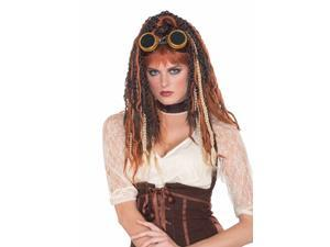 Steampunk Havoc Dreads Costume Wig Adult One Size