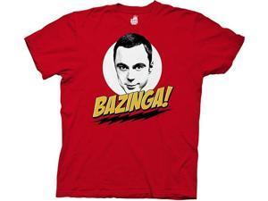 Big Bang Theory Bazinga With Sheldon Red Adult T-Shirt XX-Large