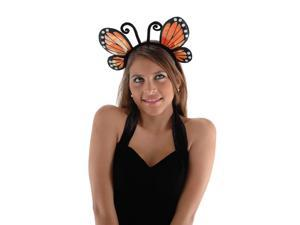 Orange Butterfly Headband Costume Accessory Adult One Size