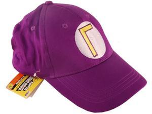 Super Mario Bros Waluigi Baseball Hat Purple