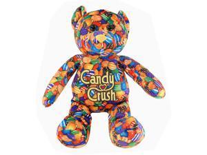 """Candy Crush Saga 12"""" Plush Printed Bear: Orange Patern"""