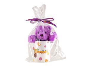 Candy Crush Saga Bear With Ceramic Mug: Purple