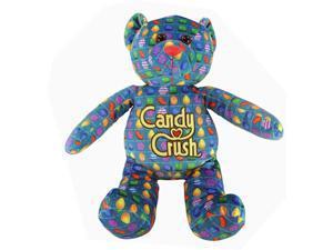 "Candy Crush Saga 12"" Plush Printed Bear: Blue Pattern"
