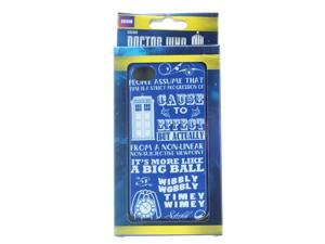 Doctor Who iPhone 4 Hard Snap Case Wibbly Wobbly Timey Wimey
