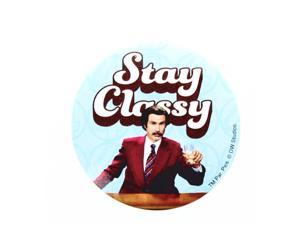 "Anchorman The Legend of Ron Burgundy ""Stay Classy"" Button"