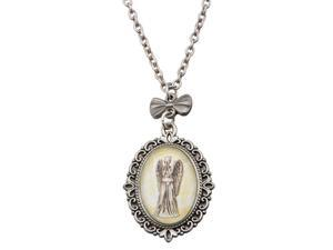 Doctor Who Weeping Angel Cameo Necklace