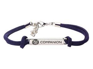 Doctor Who Companion ID Plate Blue Leather Bracelet