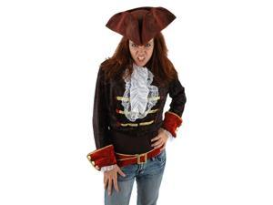 Scallywag Caribbean Pirate Blood Red Tricorn Adult Costume Hat One Size