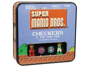 Super Mario Bros Checkers & Tic-Tac-Toe Collector's Edition Board Game