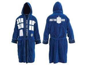 Doctor Who Tardis Adult Bathrobe One Size Fits Most