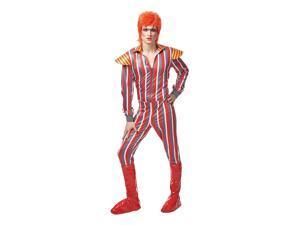 David Bowie Glam Rocker Adult Costume Standard
