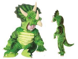 Green Triceratops Plush Child Infant Costume