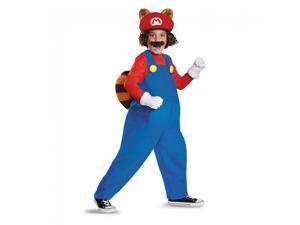 Super Mario Bros Nintendo Mario Raccoon Deluxe Costume Child Large 10-12