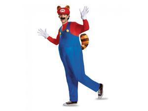Super Mario Bros Nintendo Mario Raccoon Deluxe Costume Adult XX-Large 50-52
