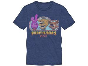 "Five Nights at Freddys ""Freddy Fazbear's Pizza"" Blue Men's T-Shirt X-Large"