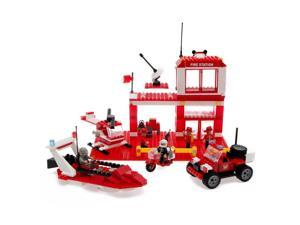 Best Lock Construction Toys 450 Piece: Fire Station