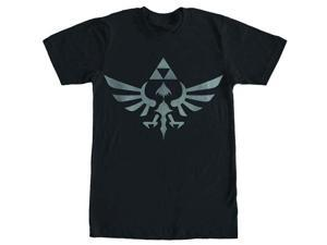 Legend of Zelda Skyward Sword Triforce Logo Black T-Shirt XX-Large