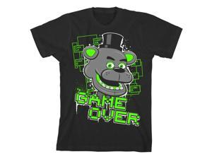 "Five Nights at Freddy's ""Game Over"" Boy's Black T-Shirt: Medium"