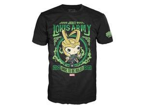 Marvel Avengers Funko POP Tees Loki's Army Large