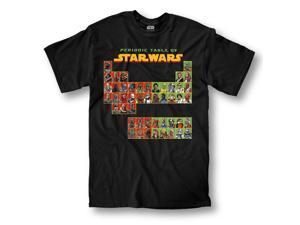 Star Wars Periodic Table Adult T-Shirt Large