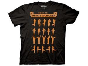 Arrested Development How To Imitate A Chicken Black Adult T-Shirt XX-Large