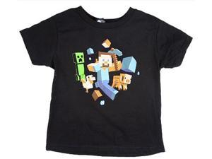 Minecraft Run Away! Youth T-Shirt Youth X-Large