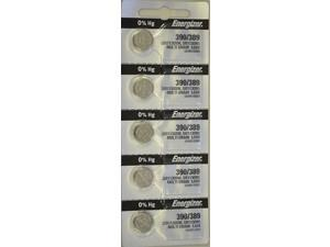Energizer Battery 390/389 SR1130SW Silver Oxide 1.55V (5 Batteries Per Pack)