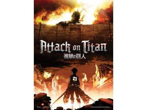 Fabric Poster - Attack on Titan -New Title Key Art Wall Scroll Anime New ge79073