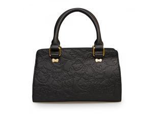 Tote Bag - Hello Kitty - Floral Embossed Black Fashion New santb1323