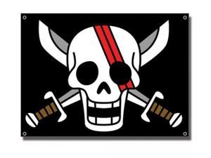 Flag - One Piece - New Shank Logo Sign Pirates Black Anime Licensed ge6469