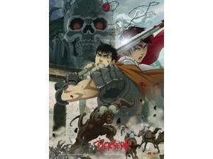 Fabric Poster - Berserk - New Skull Knight, Guts, Casca & Zodd Wall Art ge77945