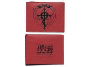 Wallet - Fullmetal Alchemist Brotherhood - New Flamel Cross Logo Red ge3059