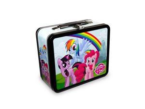Lunch Box - My Little Pony - Group with Rainbow New Metal Tin Case mlplb0002