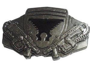 Belt Buckle - Gear Of War - New METAL Lancer Rifles Gun Metal bb147157gow