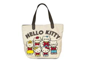 Tote Bag - Hello Kitty - 40th Anniversary Canvas Faux New santb1404