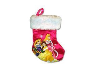 "Christmas Stocking - Disney - Princess  7"" Belle Aurora Rapunzel New 479495"