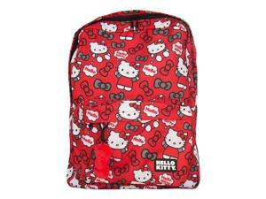 Backpack - Hello Kitty - Red / Grey Bows New Licensed sanbk0204