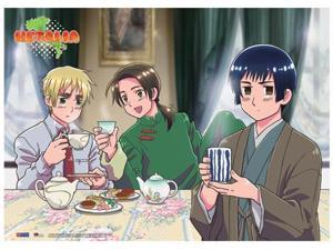 Fabric Poster - Hetalia - New Tea Time Wall Scroll Art Licensed ge77646