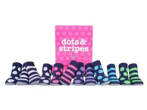 Socks - Trumpette - Dots & Stripes Baby Accessories Rattle 0-12 Medium