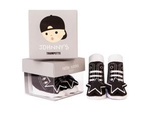 Socks - Trumpette - Johnny Rattle Black Baby Accessories 0-12 Mos