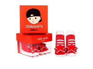 Socks - Trumpette - Johnny Rattle Red Baby Accessories 0-12 Mos