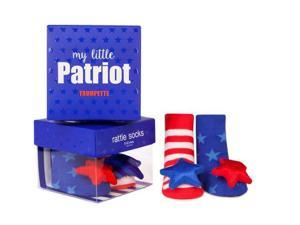Socks - Trumpette - My Little Patriot Rattle Baby Accessories 0-12 Mos