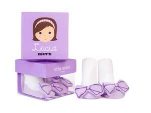 Socks - Trumpette - Lucia Rattle Lavender Baby Accessories 0-12 Mos