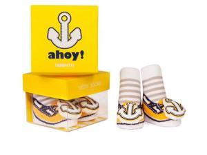 Socks - Trumpette - Ahoy Rattle Yellow Baby Accessories 0-12 Mos