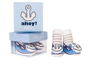 Socks - Trumpette - Ahoy Rattle Blue Baby Accessories 0-12 Mos