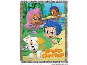 Tapestry Throw - Bubble Guppies - Guppy Fun Woven Blanket New 280731